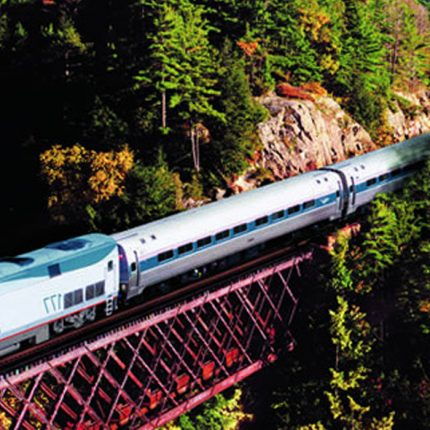 Amtrak train in Canada.
